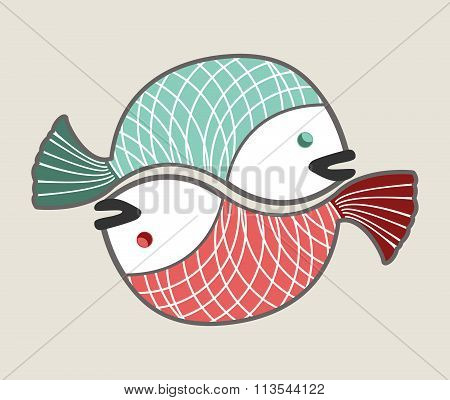 Circle Love Fishes