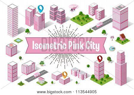 City Pink  Skyscraper