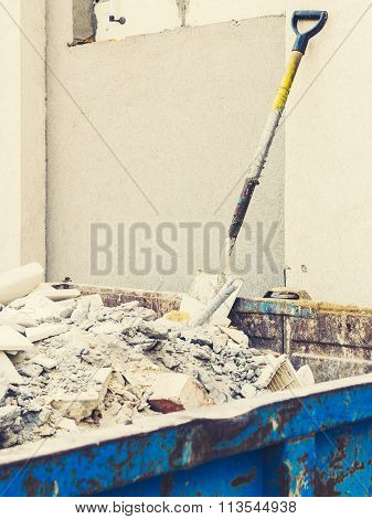 Full Construction Waste Debris Container