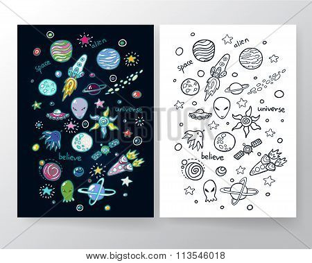 Cute Space Set