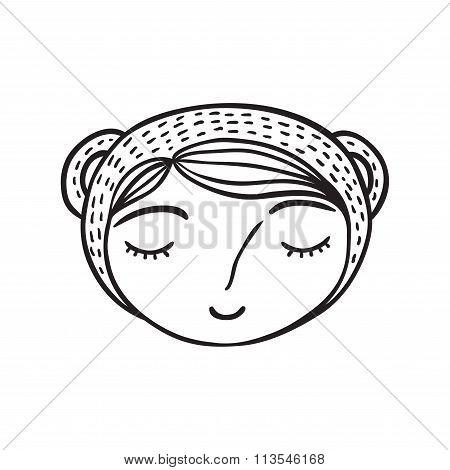 Cute Little Girl Head