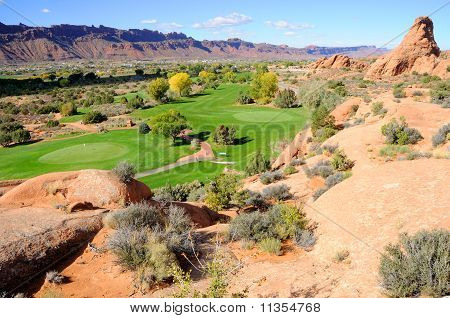 Moab desert golf course in southern Utah