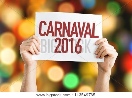Carnaval 2016 placard with bokeh background