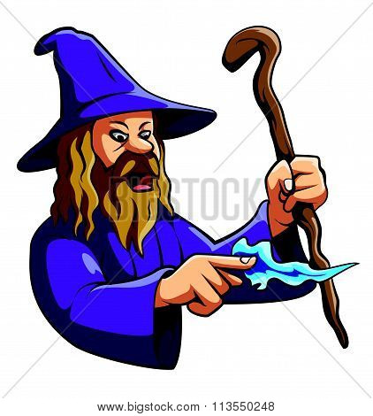 Wizard Illustration on White