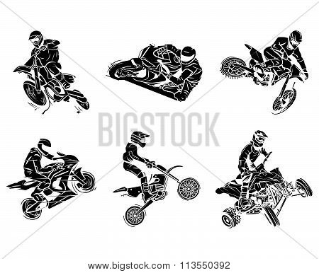 Motorbike tattoo Collection vector design  .eps10 editable vector illustration design
