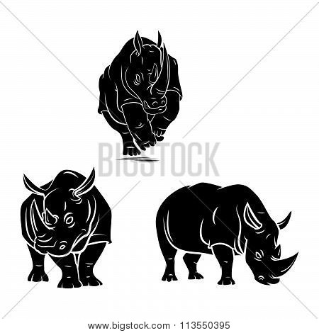 rhino tattoo vector design .eps 10 illustration design