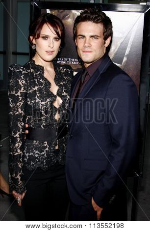 HOLLYWOOD, CALIFORNIA - September 3, 2009. Rumer Willis and Micah Alberti at the Los Angeles premiere of