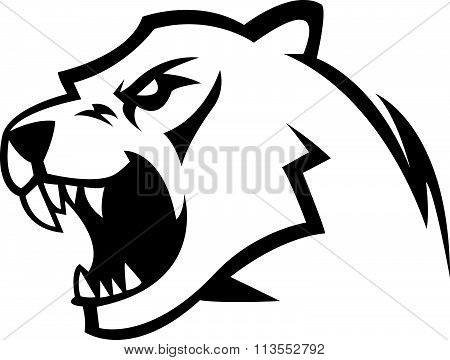 Cougar design illustration