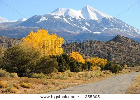 La Sal Mountain Byway in the Fall