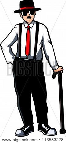 Acting man vector design illustration