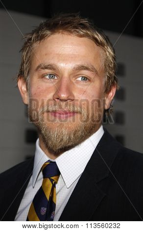 HOLLYWOOD, CALIFORNIA - August 30, 2011. Charlie Hunnam at the Season 4 premiere of FX Network's