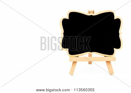 Wooden Easel Mini Blackboard Isolated On White
