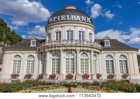 Outside View Of Spielbank Casino Building In The Spa Town Bad Ems At The River Lahn In Germany