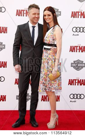 Chris Hardwick and Lydia Hearst at the Los Angeles premiere of Marvel's