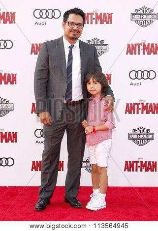 Michael Pena at the Los Angeles premiere of Marvel's