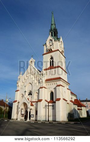 Our Lady Protectress Catholic Neo-gothic Church In Stryi,western Ukraine, Europe