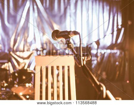 Mic On Stage Vintage