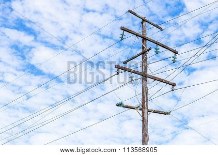 Timber power pole