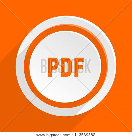 pdf orange flat design modern icon for web and mobile app