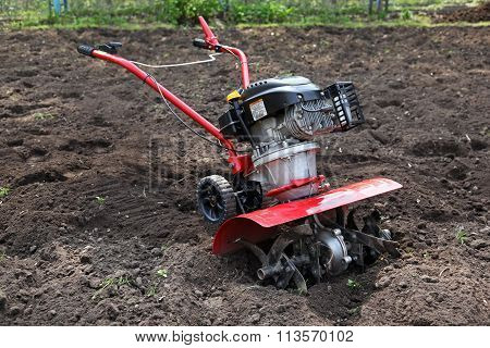 Cultivator Soil preparation for planting vegetables