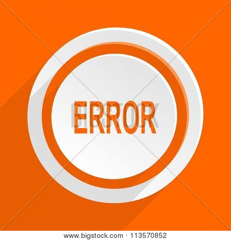 error orange flat design modern icon for web and mobile app