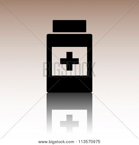 Medical container icon