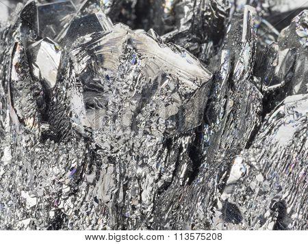 Natural Gray-black Stone Cassiterite