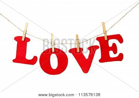 Love sign on white background - isolated