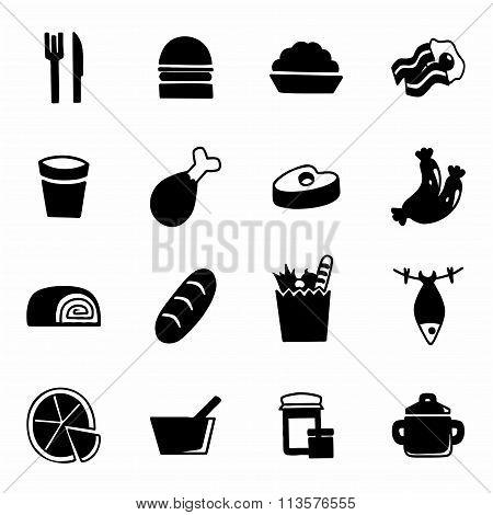 Vector Food icon set