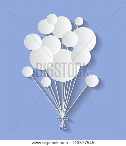 communication bubbles on the blue background. Eps 10 vector file.