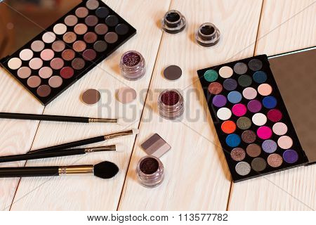 Brushes, Eyeshadow Palettes And Other Makeup Tools