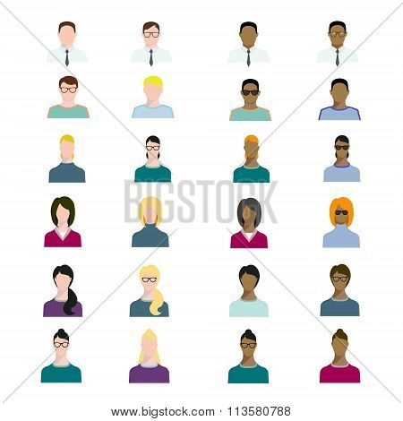 Set of people avatars profession, professional human occupation, basic characters set