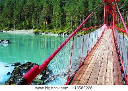 Bridge Over Turquoise River