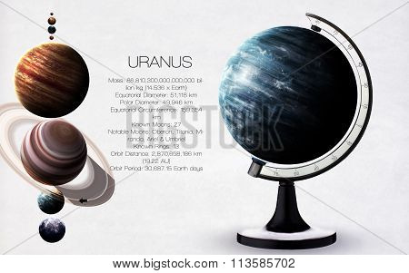 Uranus - High resolution images presents planets of the solar system. This image elements furnished