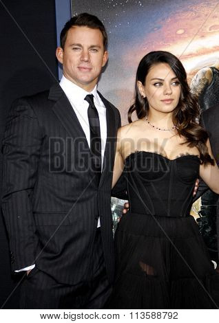 Channing Tatum and Mila Kunis at the Los Angeles premiere of