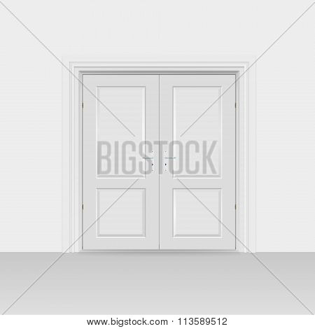 Interior Doors Hinged Bivalve, Swings Door