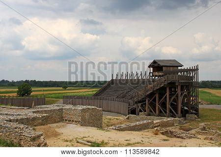 Reconstruction of Roman amphitheater