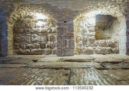 Roman Ancient Floor Called Lithostrotos - Place Where Pilate Judged Jesus
