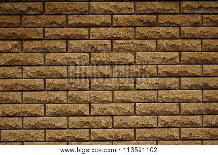 wall of yellow bricks