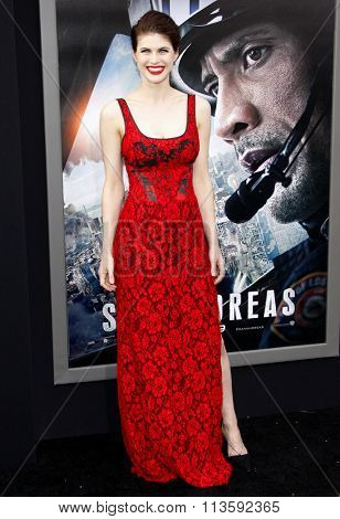 Alexandra Daddario at the Los Angeles premiere of