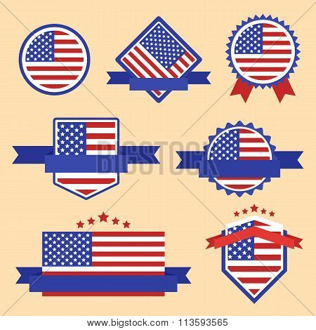 World Flags Series. Vector Flag of USA.