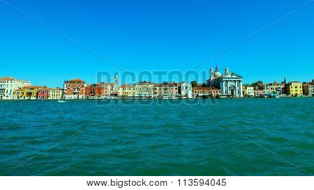 View From Giudecca Canal, Venice, Italy.