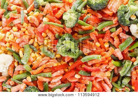 Background Collection Of Frozen Fresh Vegetable