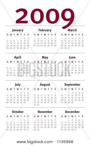 2009 Planner Calendar