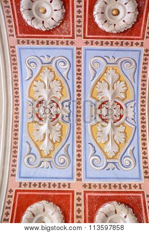 STITAR, CROATIA - AUGUST 27: Fresco in the church of Saint Matthew in Stitar, Croatia on August 27, 2015