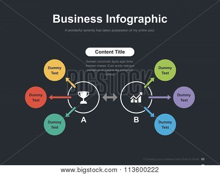 Business vector infographic slide template 0007