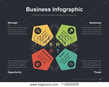 Business vector infographic slide template 0009