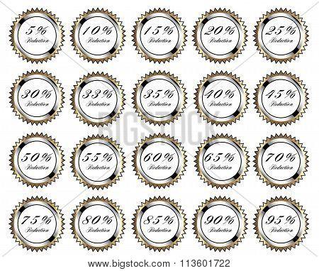 Golden Discount Buttons