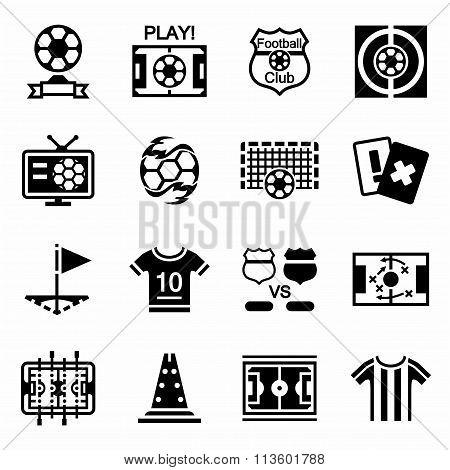 Vector Football icon set