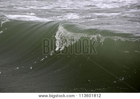 Big Wave Crest With Ripples